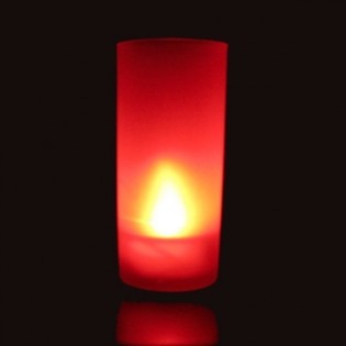 Red led candle with blowing function
