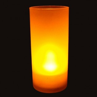 Yellow led candle with blowing function