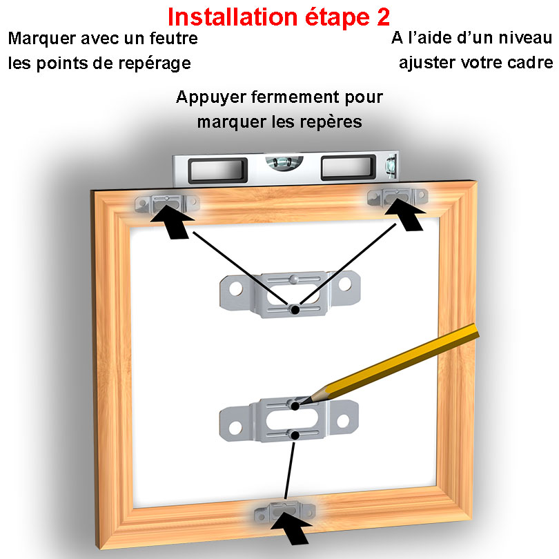 Complete anti-theft kit for wooden frame NEWLY