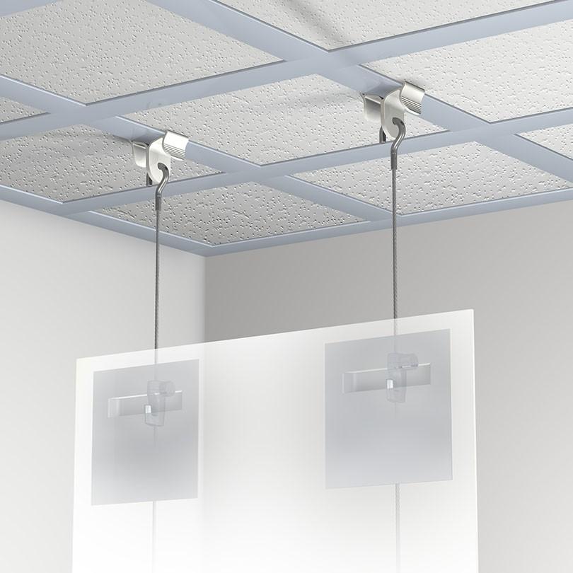 Kit Ceiling Clamper vue par transparence (avec attaches adhésives non fournies)
