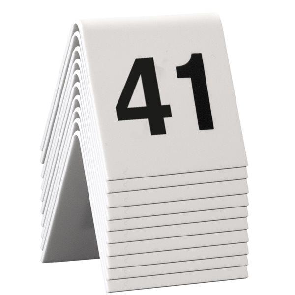 Numéros de table