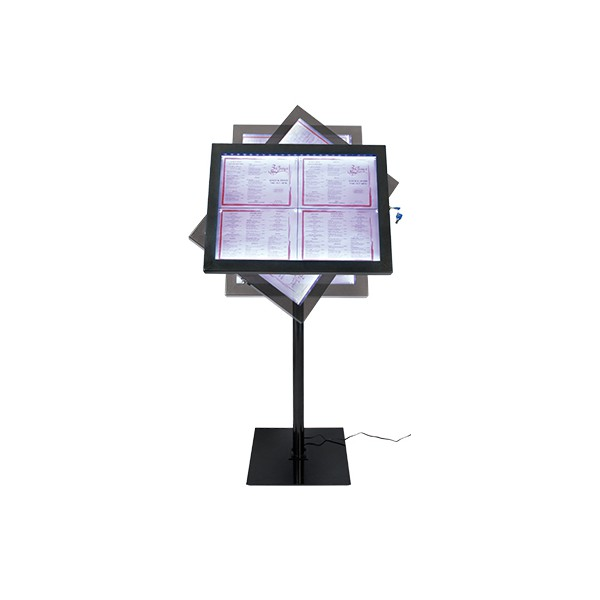 Porte-Menu Led Black Star