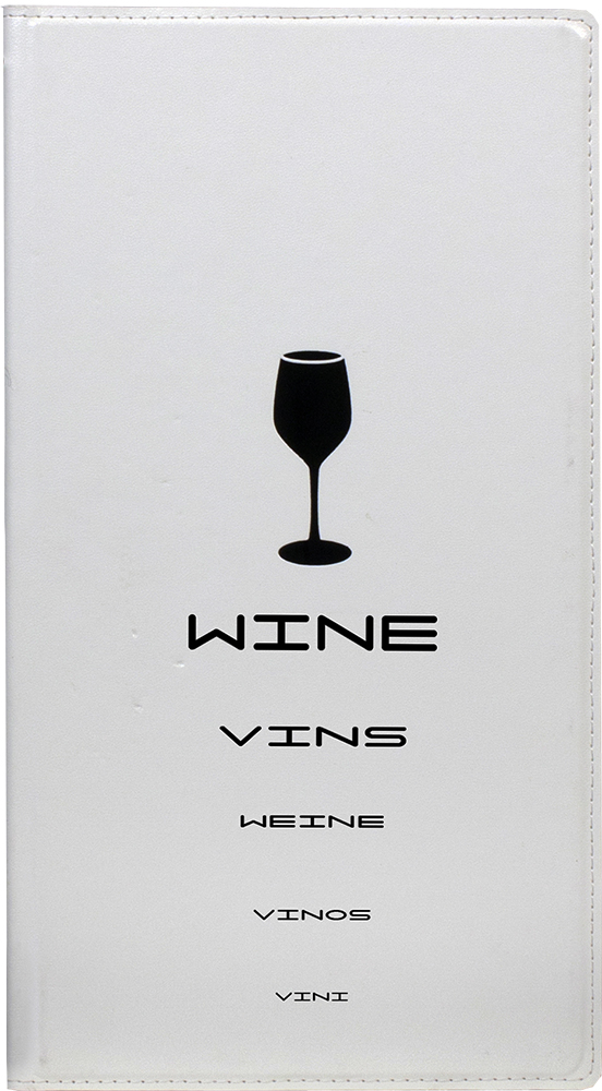 Wine list Design White