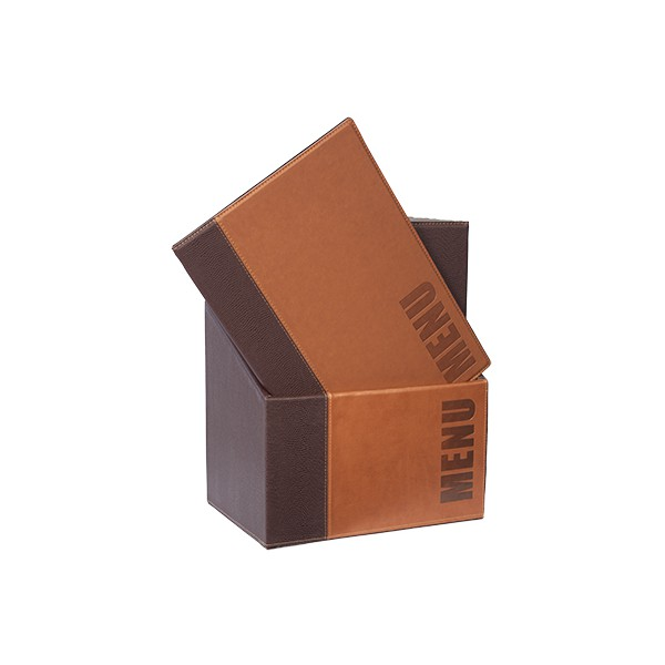 Trend Brown A4 - BOX 20 protects-menus