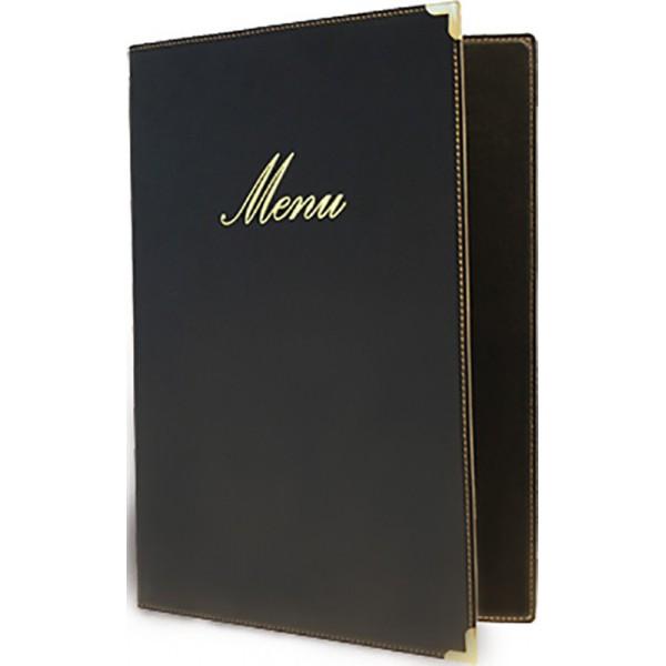 Protège-menus BOX Classique A4 Noir