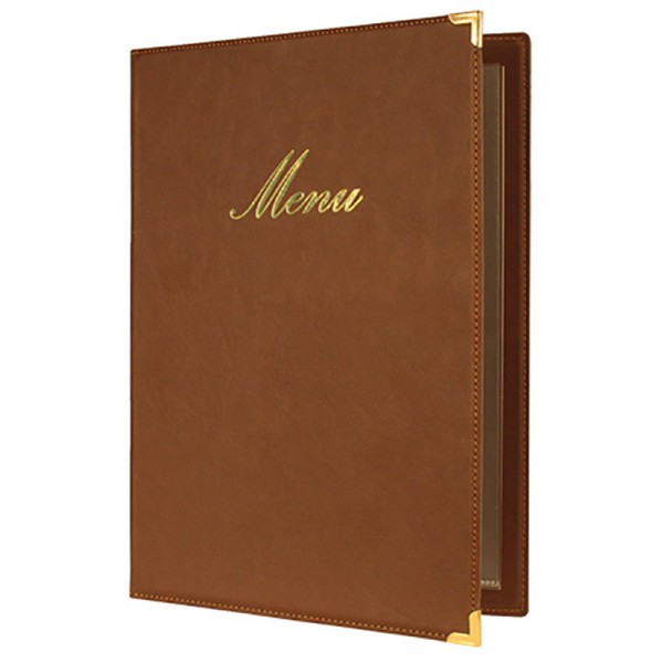 BOX Menu Protector Classic A4 brown
