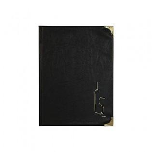 Carte des vins A4 Basic noir