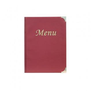 Protects-menus A4 Basic bordeaux