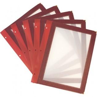 Inserts protège-menus Wood A4
