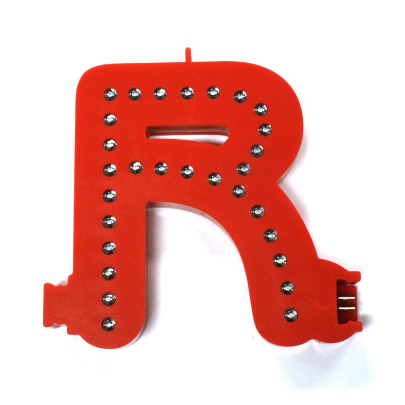 Lettre R Smart LED