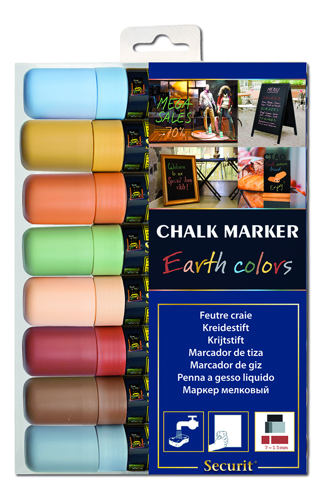 Felt-chalk color Earth 7-15 mm by 8