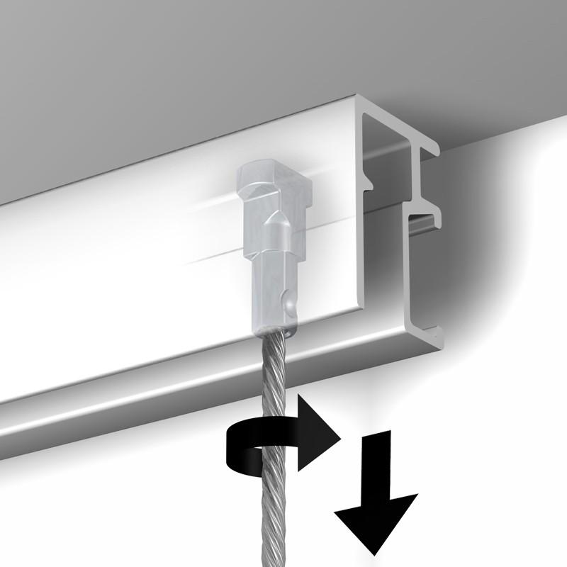250 cm câble acier embout twister Newly