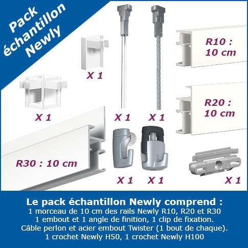 Echantillon Cimaise Newly R10 - R20 - R30