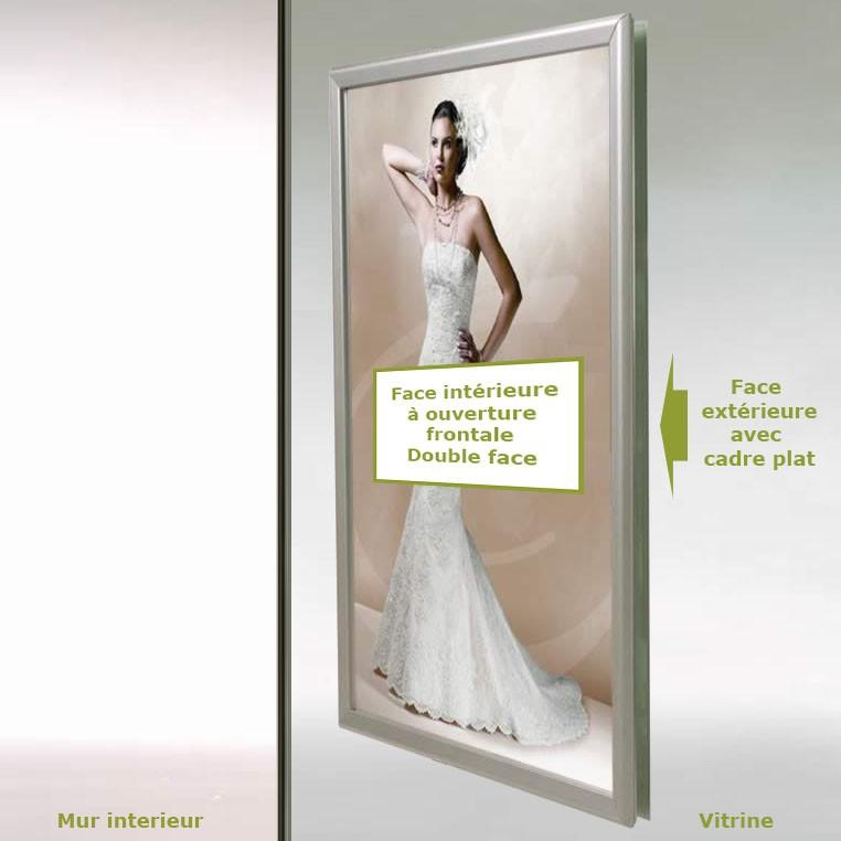 Click Frame vitrine - cadre à ouverture frontale