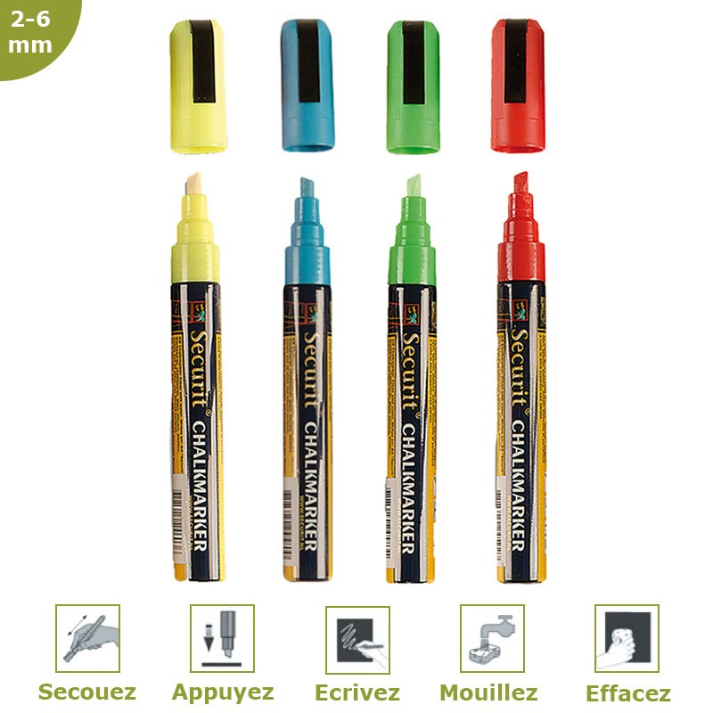 Fieltro-tiza color 2-6 mm por 4