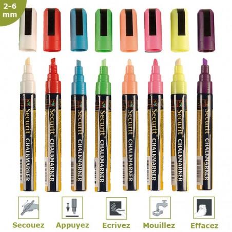 Felt-chalk color 2-6 mm per 8