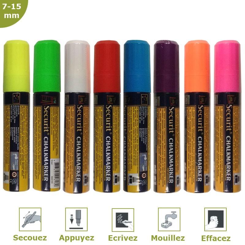 Fieltro-tiza color 7-15 mm por 8