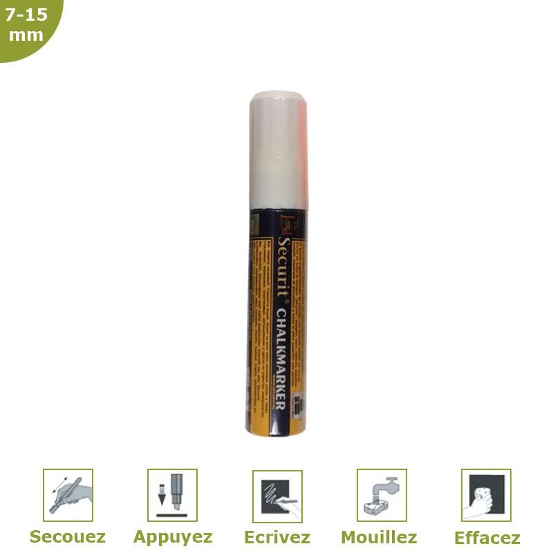 Feutre-craie 7-15 mm blanc