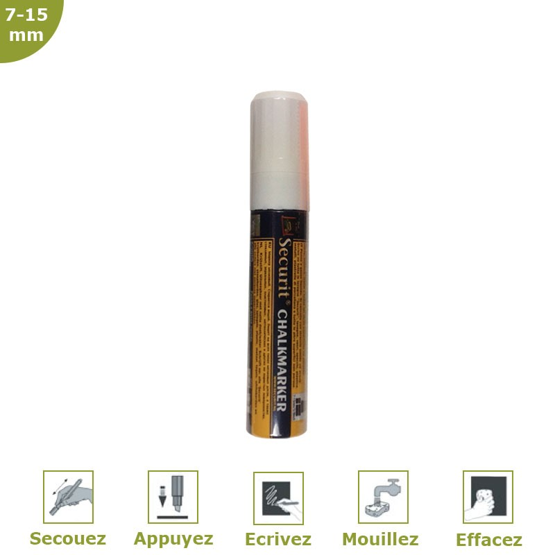 Chalk marker 7-15 mm white