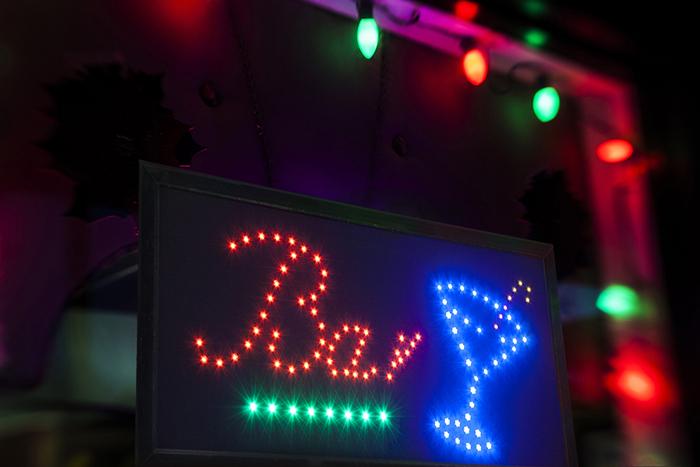 """Enseigne lumineuse LED """"BAR"""""""