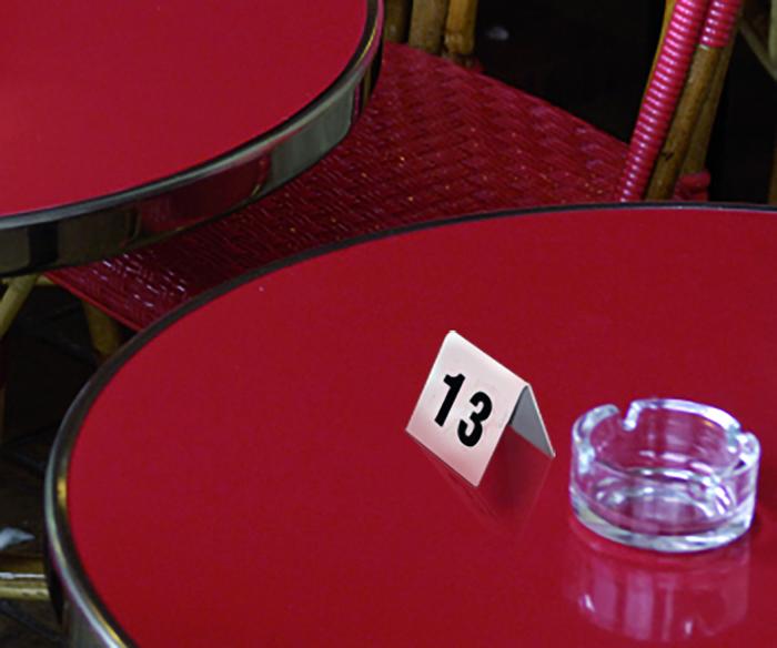 Chevalet numéroté pour table restaurant