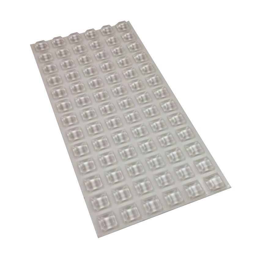 plaque 78 blocs caoutchouc adhésif