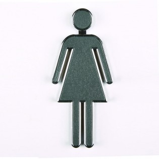Pictogramme 3D toilettes Femme