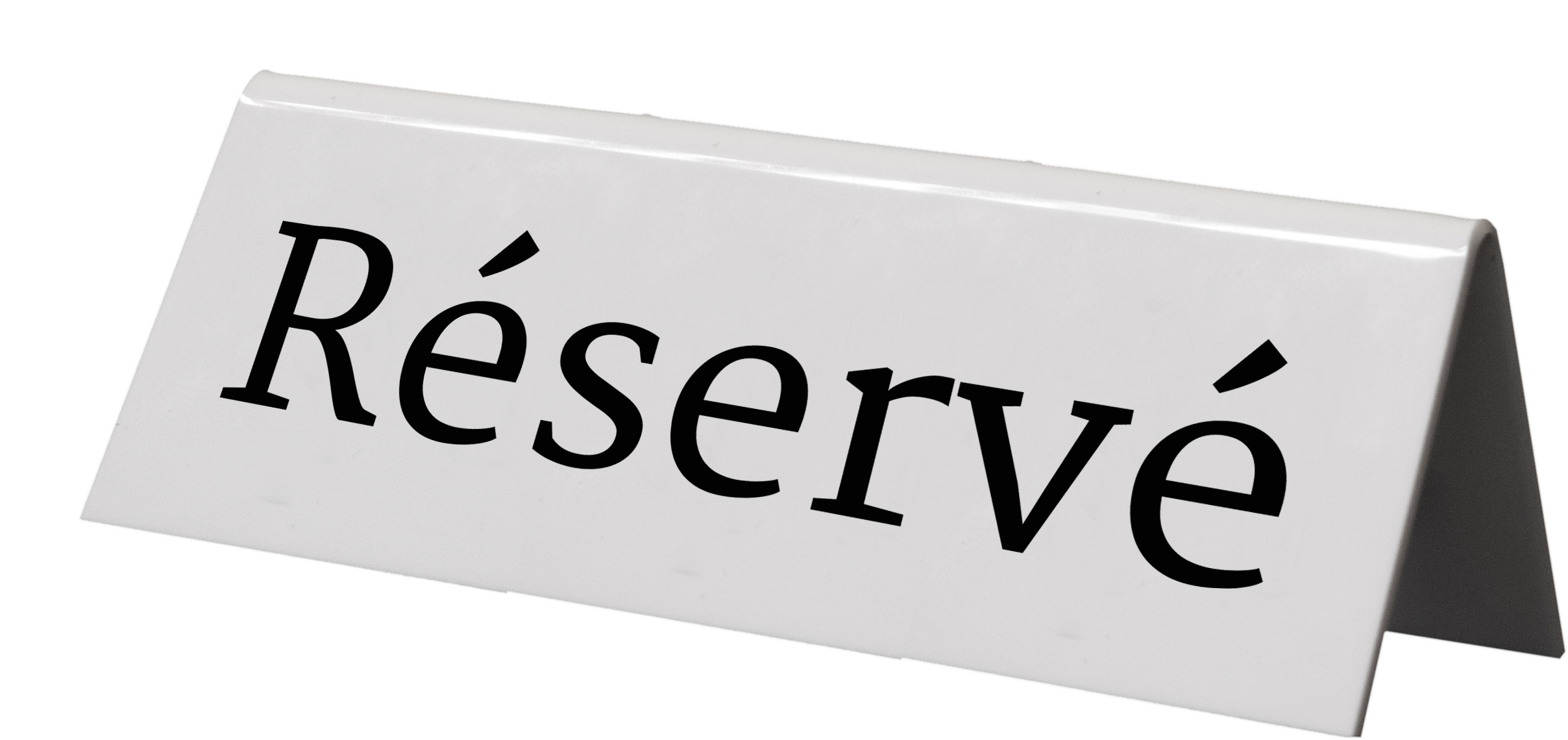 Reserved table easel