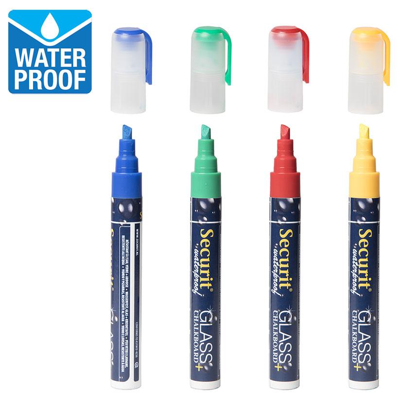 4 feutres craie couleur waterproof