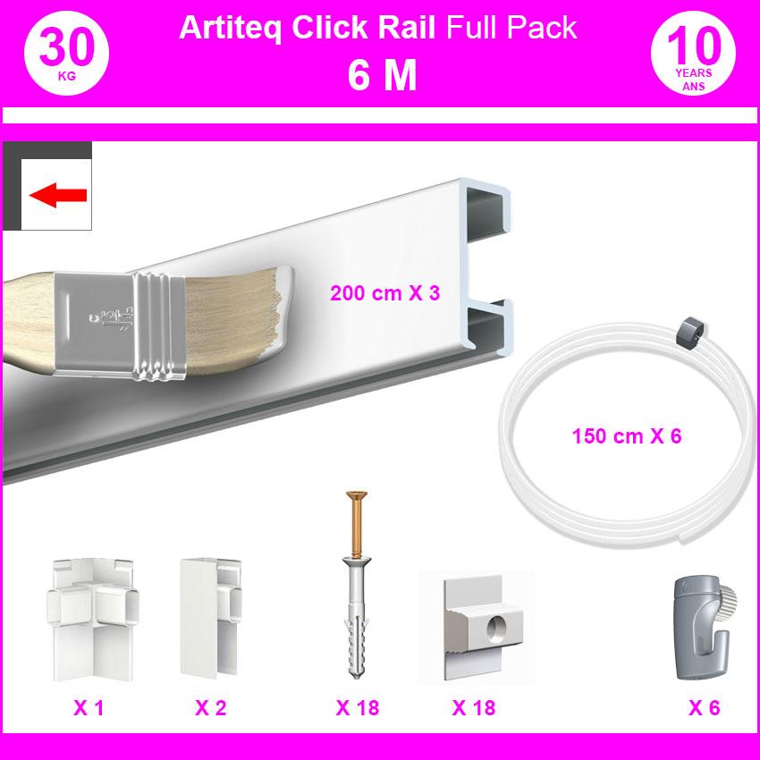 Pack Eco 6 m: cimaise carril, haga clic en