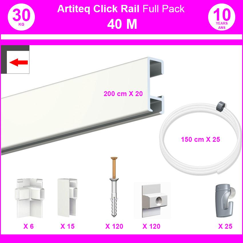 Pack Eco 40 m: cimaise carril, haga clic en