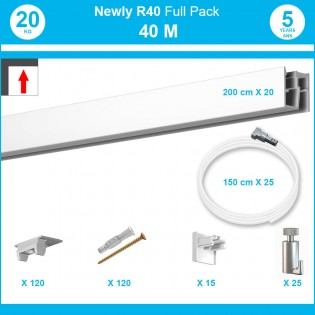 4 mètres : Pack complet cimaise Newly R40