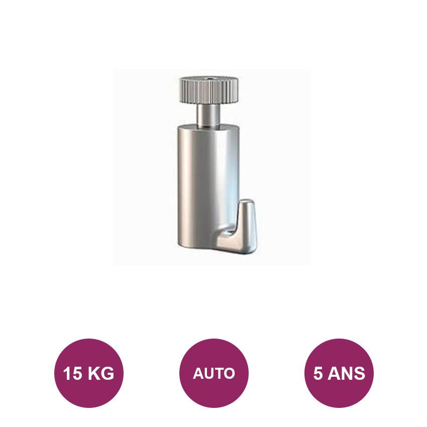 All'uncinetto classico autobloccanti: max 15 kg.