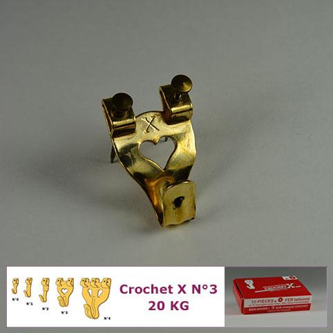Hook X N ° 3 bis 20 kg: 10er Kiste