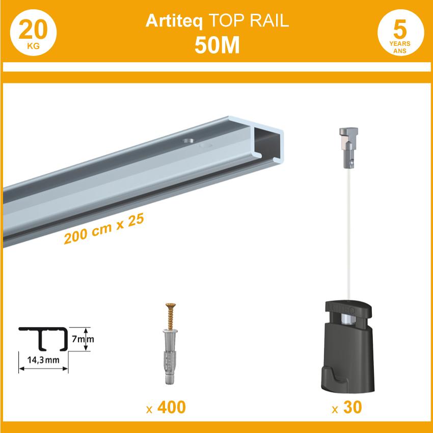 Pack Cimaises obere Schiene - 50 Meter