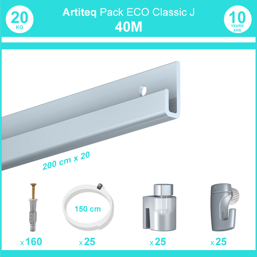 Cimaise ECO klassische J: Pack 40 Meter