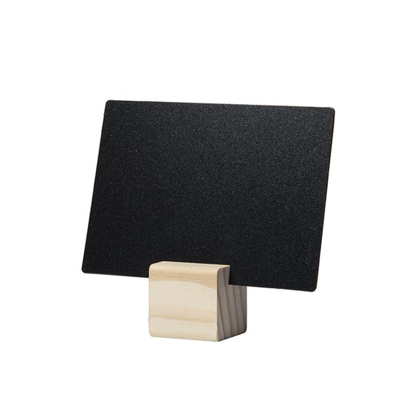6 supports cube bois pour ardoise Tag