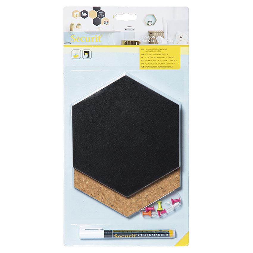 Ardoise murale Silhouette Hexagon