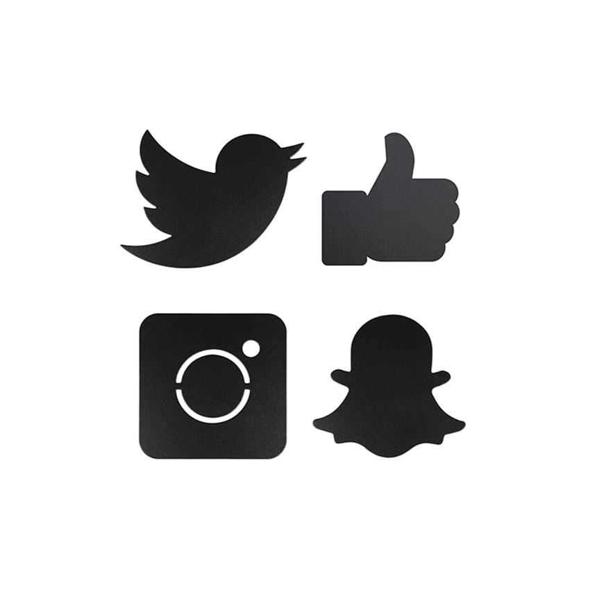 4 ardoises Silhouette Social network