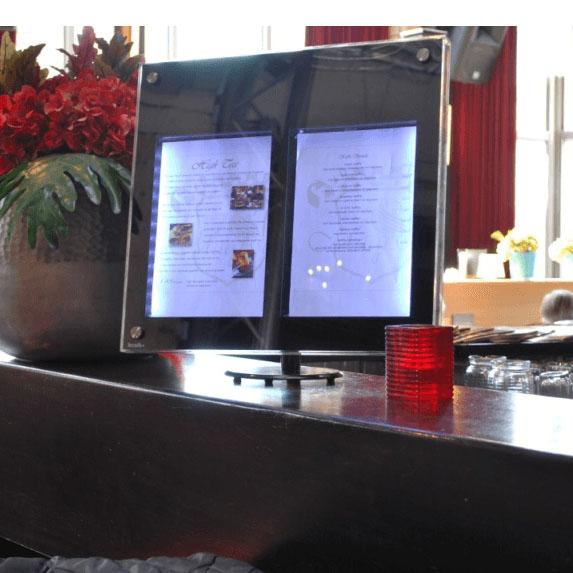 Porte-menu Led Comptoir