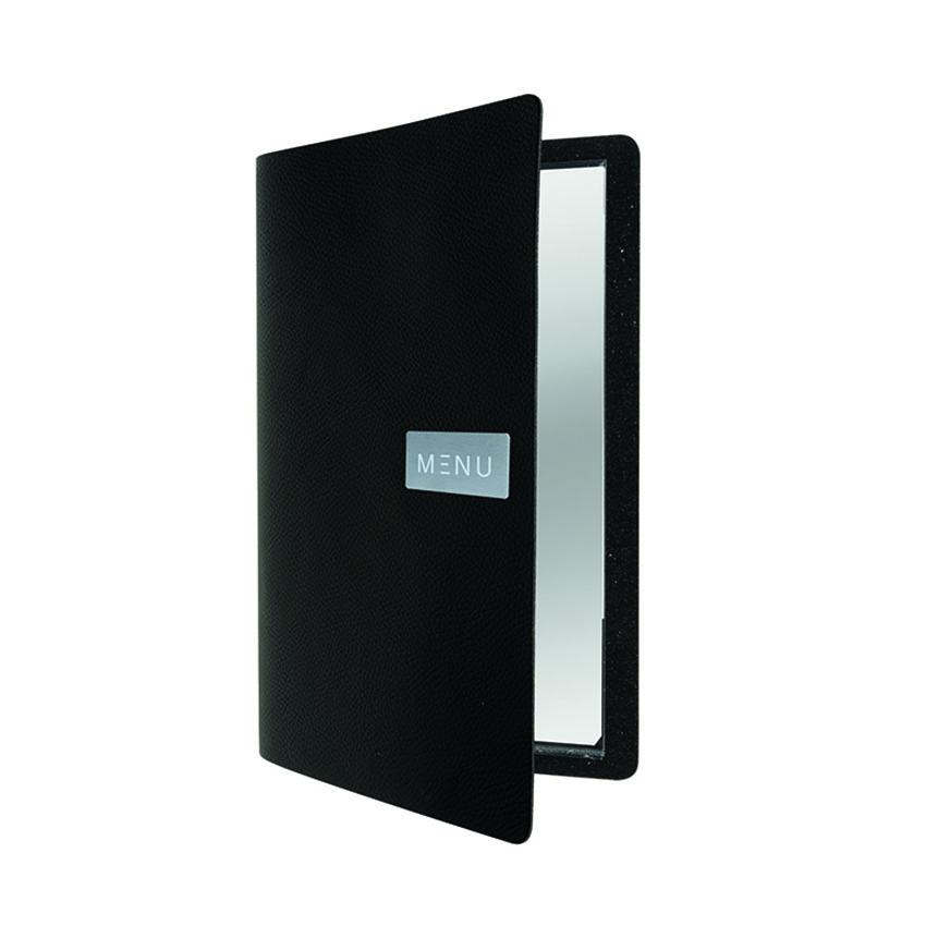 Protège-menu cuir noir EGO