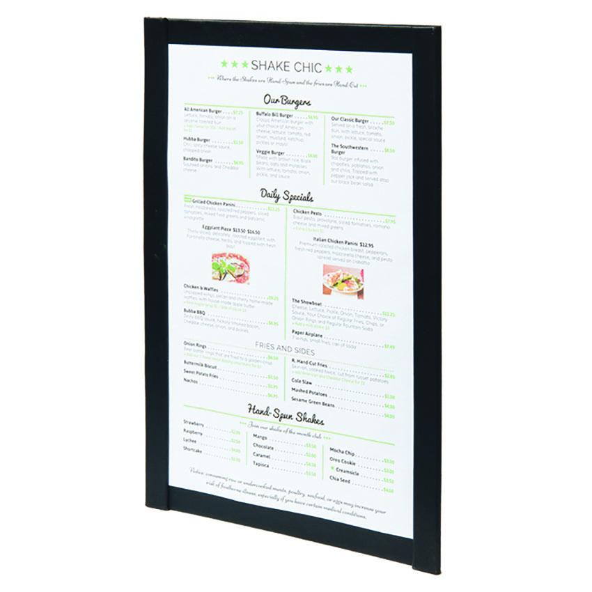 Protège menu magnetique A4 noir