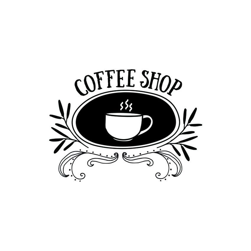 Pochoir vitrine Coffee shop