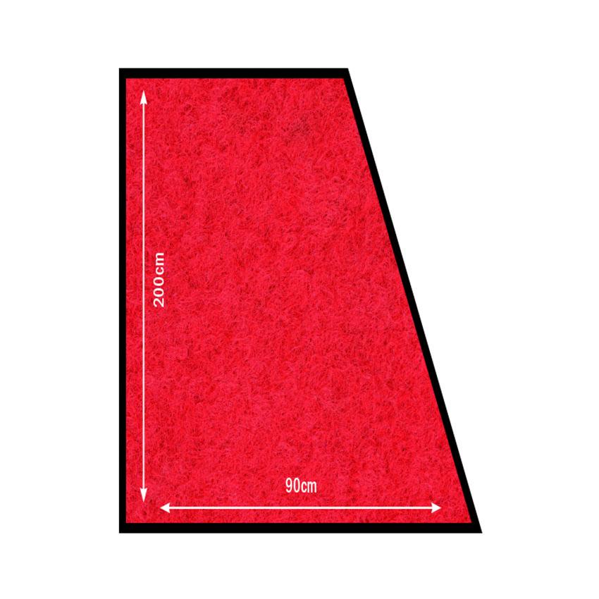 Tapis d'accueil rouge