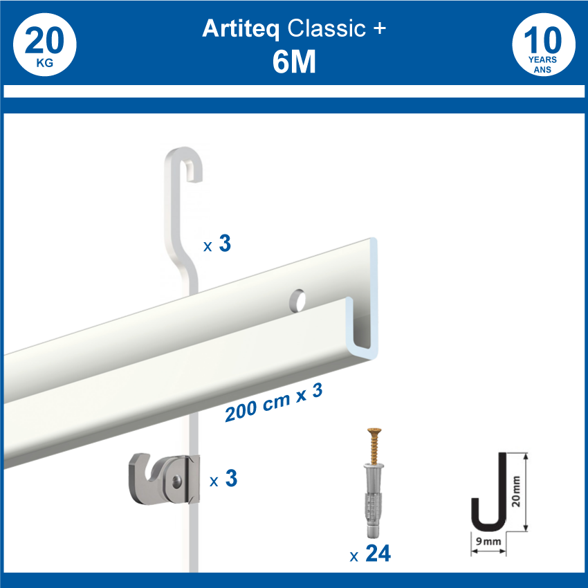 Pack cimaises Gallery + 6 metres
