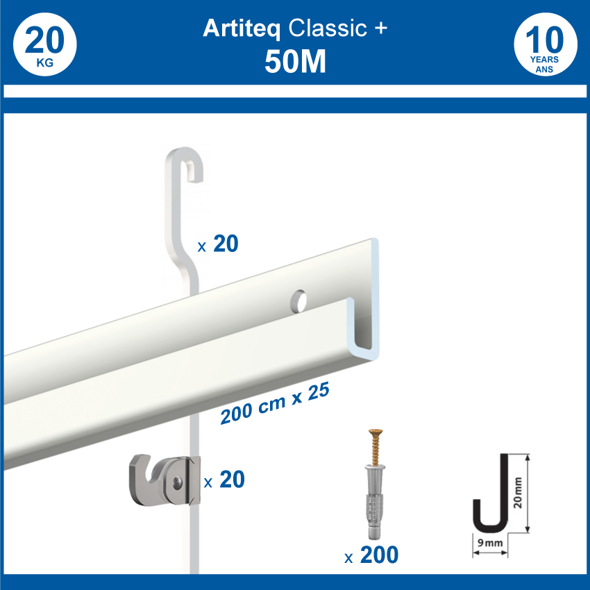 Pack cimaises Gallery + 50 metres