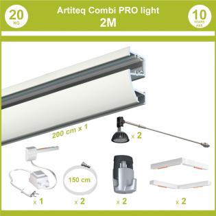 Pack complet cimaises Combi Pro Light 2 mètres