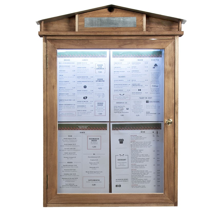 Porte-Menu mural Led Rustic