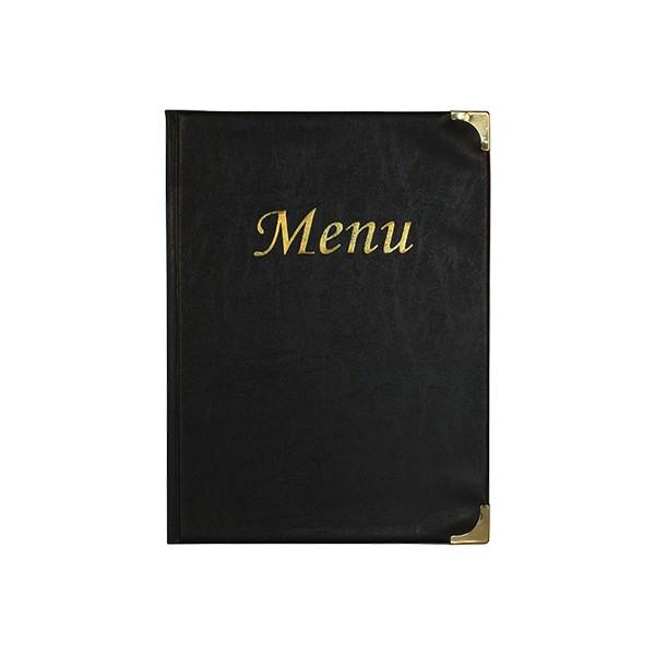 Boite de 10 protège-menus Basic noir