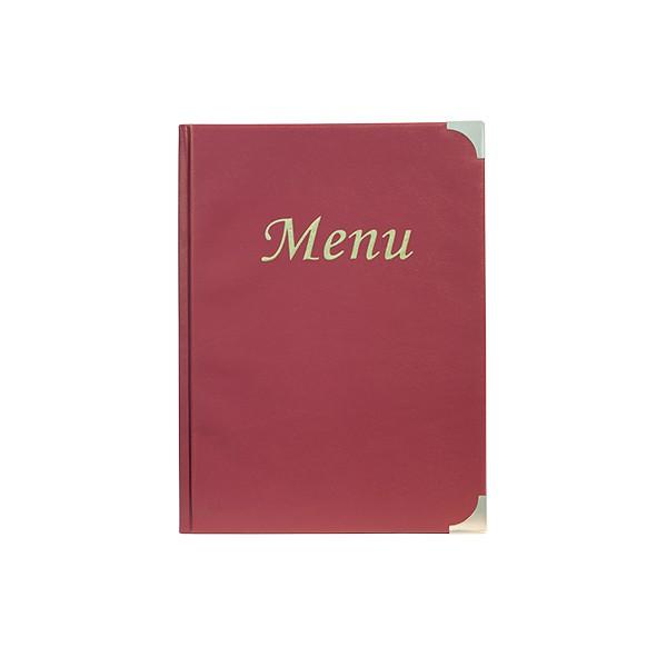 Boite de 10 protège-menus Basic bordeaux